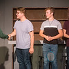 """(from left) Corbin Chaffin, as Skip, Tanner Munson, as Denny, Joseph Mitchell, as Wally, and Spencer Dawson, as Eugene, rehearse a scene from """"Life Could Be a Dream"""" at the Joplin Little Theatre on Tuesday.<br /> Globe 