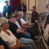 Veterans listen during Monday's town hall at  the Veterans Health Care System of the Ozarks.<br /> Globe | Roger Nomer