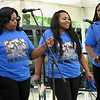 Members of the Mississippi-based Rev. John Wilkins Band entertain the crowd during Carver Day on Saturday at George Washington Carver National Monument. The annual event featured entertainment, demonstrations, tours and more.<br /> Globe | Laurie Sisk