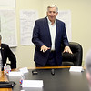 Missouri Governor Mike Parson opens a roundtable discussion with mayors from Jasper County on Tuesday at Joplin City Hall. Topics discussed included infrastructure and work force development.<br /> Globe | Laurie Sisk