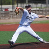 Hitters Baseball Navy's Trent Ehlers delivers a pitch during Thursday's game at Joe Becker Stadium.<br /> Globe | Roger Nomer