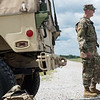 Tyler Viles, with the Soldiers with the 329th Combat Sustainment Battalion from Parsons, Kan., talks about his training for deployment on Tuesday at Camp Crowder.<br /> Globe | Roger Nomer