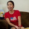 Hazel Bradley talks about her joy after taking her citizenship oath during an interview on June 27.<br /> Globe | Roger Nomer