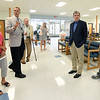 From the left: Access Family Care Chief Quality Officer Debra Davidson, Access CEO Don McBride, Access Board Chairman Dr. Al Chapman, Katie Reichard, of the Missouri Primary Care Asocaiation, Sen. Roy Blunt and Dr. Conner Paustian, of Access, visit during Blunt's tour of the newly expanded clinic on Friday. Access has recently added 26 new exam rooms as part of a partnership with Kansas City University of Medicine and Biosciences.<br /> Globe | Laurie Sisk