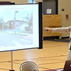 Joplin RVIII Superintendent Melissa Moss details some of the issues surrounding Columbia Elementary during a public input forum on the fate of Columbia and West Central Elementary schools on Thursday night at Columbia Elementary. The forum was one of several conducted during the week.<br /> Globe | Laurie Sisk