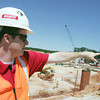 Globe/Roger Nomer<br /> Stephen Meuschke, project manager, points out some features at the construction site of the new Mercy Hospital on Friday afternoon.
