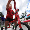 Globe/T. Rob Brown Remington Harpole, 2, races around a paved track on a three-wheeler Tuesday afternoon, June 19, 2012, at the Learning Junction Educational Center in Joplin.