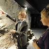 Globe/T. Rob Brown Joplin Museum Complex Executive Director Brad Belk explains the mining process to Jennifer Jordon, right, of Denver, with Best of the Road, during a tour of the museum's mineral and mining wing Wednesday morning, June 20, 2012. Jordon and coworker Bob Schatz, of Detroit, toured several Joplin icons Wednesday and are expected to continue their tour Thursday.