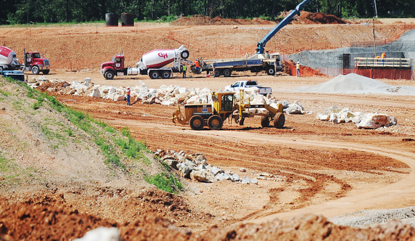 Globe/T. Rob Brown Construction continues for the groundwork at the future Mercy Hospital Joplin Tuesday morning, June 12, 2012.