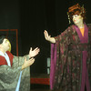 "Globe/Roger Nomer<br /> John Tsangaris, as Ko-Ko, and Roberta Shilane, as Katisha, rehearse a scene from ""The Mikado"" at the Stone's Throw Theatre."