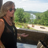 Globe/Roger Nomer<br /> Ilene Powell talks about how the SWEPCO plan will affect her family's property, including their view of the White River, during an interview on Wednesday.