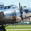 Globe/T. Rob Brown<br /> A B-17 Flying Fortress crew slows down their engines while parked at the Joplin Regional Airport Wednesday morning, June 12, 2013.