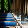 Globe/Roger Nomer<br /> The balance of light and shadow play an important part of the experience of Thorncrown Chapel in Eureka Springs.