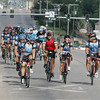 Globe/Roger Nomer<br /> JOMONOLA riders bike along 20th Street on their way to New Orleans on Thursday morning.