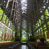 Globe/Roger Nomer<br /> Opponents of the SWEPCO power plan say it will harm the natural beauty of attractions in Eureka Springs such as the Thorncrown Chapel.