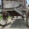 """Globe/Roger Nomer<br /> A covered wagon sets out on the """"Echoes of the Trail"""" ride to Ft. Scott on Thursday morning."""