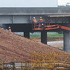 Globe/Roger Nomer<br /> Workers construct supports along a bridge at the new I-44 interchange on Rangeline Road on Tuesday.