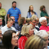 Globe/Roger Nomer<br /> A large crowd turns out for Monday's council meeting that included topics on recycling and plans for a $130 million grant.