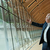 Globe/Roger Nomer<br /> Architect Moshe Safdie explains the design theory behind the large gallery windows at the Crystal Bridges Museum during a tour on Wednesday.