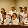 Globe/Roger Nomer<br /> Missouri Southern dental hygiene students attend the announcement of the Southwest Missouri Collaborative for Dental Care for the Underserved during a press conference Tuesday at Missouri Southern.
