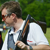 Globe/Roger Nomer<br /> Richard Faulds, Newbury, England, exits the course at the US Open at Claythorne Lodge on Wednesday. Faulds is an accomplished internation shooter, competing in the last five Olympics and winning gold in Sydney in the double trap competition.