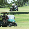 Golfers take to the lush, green course on Friday at Schifferdecker Park. Recent rains have nearly lifted the area out of drought conditions.<br /> Globe | Laurie Sisk