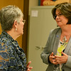 Globe/Roger Nomer<br /> CNA instructor Brenda Thexton talks with Crowder College President Jennifer Methvin on Wednesday.