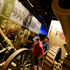 Globe/Roger Nomer<br /> Bob Boone, Millen, Ga., left, and Jimmy Bolding, Olathe, Kan., examine two WWI-era guns at the National WWI Museum in Kansas City on Thursday. The two men are buddies from the Navy, and served in Vietnam together.