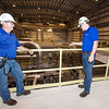 From the left: Empire Operations Manager Ronny Myers and Project Manager Bryce Robertson lead members of the media on a tour of the new Riverton power plant on Tuesday in Riverton.<br /> Globe | Laurie Sisk