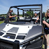 Camp Quality Co-Executive Director Kristin Patterson transport campers to activities near Neosho on Thursday at the camp for kids battling cancer.<br /> Globe | Laurie Sisk