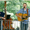 "Members of ""Borderline Bluegrass"" perform for the crowd at the Carthage Bluegrass Festival on Saturday at Carthage's Central Park.<br /> Globe 
