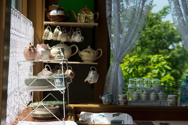 Globe/Roger Nomer<br /> Bordello Antiques also features English tea service.