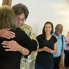 Globe/Roger Nomer<br /> Doris Carson gets a hug from Renee White, executive director of the Joplin Community Clinic, on Thursday during Carson's retirement party.