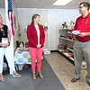 An emotional Gary Stubblefield, of the Carl Junction Area Chamber of Commerce and Lafayette House board member, talks Tuesday about the importance of the Lafayette House with Lafayette House Development Director Louise Secker, left and Jennifer Reeves, Lafayette House Board President and Joplin Area Chamber of Commerce boardmember. The three were on hand to celebrate the expansion of the Second Chances Resale Shop at 804 East 15th St.<br /> Globe | Laurie Sisk