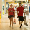 Globe/Roger Nomer<br /> Brooke Casley and Skyler Schupbach, Pittsburg, shop at the Northpark Mall on Thursday.