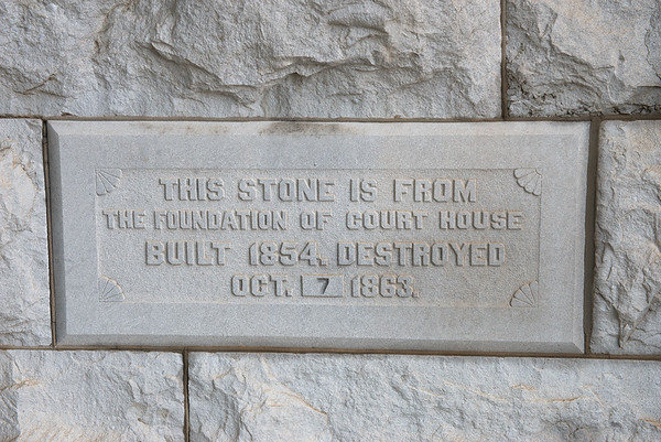 Globe/Roger Nomer<br /> Stone from the old Jasper County Courthouse is included on the current one in Carthage.