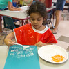 Globe/Roger Nomer<br /> Adriana Destephen works on an art project on Wednesday at Thomas Jefferson Independent Day School's Jump Start to Kindergarten.