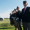 Globe/Roger Nomer<br /> Members of the Robert Thurman American Legion Post wait for the beginning of a funeral at the Diamond Cemetery on Tuesday.