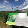 A plaque praising the life and work of Linden Trial greets visitors at Linden's Prairie near Mount Vernon.<br /> Globe | Laurie Sisk