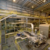 Empire's new combined cycle power plant in Riverton features a steam turbine (lower center) that reaches as high as 8,900 rpm.<br /> Globe | Laurie Sisk