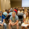 Globe/Roger Nomer<br /> Incoming freshmen meet during the Pitt CARES session at Pittsburg State on Thursday at the Overman Student Center.