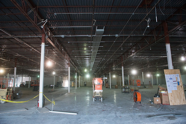 Globe/Roger Nomer<br /> Construction continues on the Dunham's Sports store at Northpark Mall on Thursday.