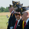 Globe/Roger Nomer<br /> Ralph M. Green, left, talks with John Newberry before a veteran's funeral at the Diamond Cemetery on Tuesday.