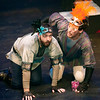 From the left: Romeo's friends Benvolio (Todd Manley) and Mercutio (Carlos Olmedo) search for their  love stricken pal during rehearsal for Romeo and Juliet on Wednesday night at Missouri Southern. <br /> Globe | Laurie Sisk