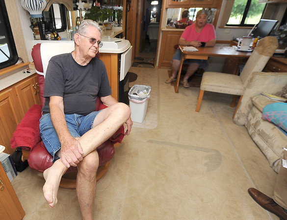 Full-time RVers Allen and Mary Anglin talk inside their motorhome at Coachight about how they became fulltime RVers 17 years ago.<br /> Globe | Laurie Sisk