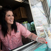 Globe/Roger Nomer<br /> Sarah Carney prepares an order for a customer at Pineapple Bliss on Tuesday.