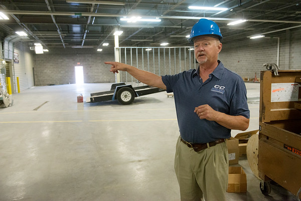 Globe/Roger Nomer<br /> Andy Wilson, AMT lead instructor at Crowder College, talks about the planned welding area at the Advanced Training and Technology Center on Wednesday.