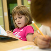 Globe/Roger Nomer<br /> Alexis French, second grade, reads on Monday at Soaring Heights Elementary.