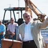 Globe/Roger Nomer<br /> Joplin Mayor Mike Seibert talks during Thursday's groundbreaking for the new Joplin Senior Center.