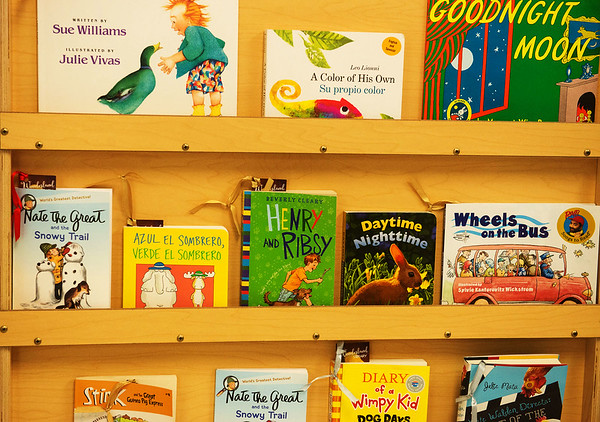 Globe/Roger Nomer<br /> Children's books are available at the Wonderland Library at the Neosho Health Department.